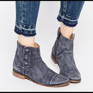 Free People 'Shadow Lark' perforated suede bootie